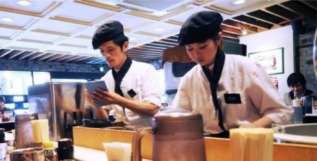 レストランでのアルバイト